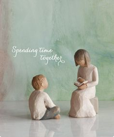 Willow Tree Figurines-Spending Time Together