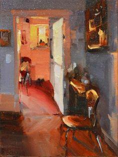 Yvette S Kitchen Original Fine Art For By Randy Blasquez Interior