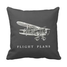 Vintage Airplane, Flight Plans Throw Pillows http://www.branddot.com/14/vintage_airplane_flight_plans_throw_pillows-189566998695725881