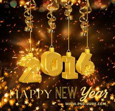 Новый год Золотой текст с Sparklers в Photoshop - Photoshop учебник | PSDDude