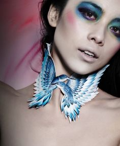 Gorgeous handmade jewelry and accessory designed by St Martin's graduate Grace Lepard. Textile Jewelry, Jewelry Art, Jewelry Design, Neck Piece, Contemporary Jewellery, Diamond Are A Girls Best Friend, Leather Jewelry, Statement Jewelry, Wearable Art