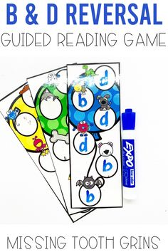 If your students are struggling with b and d reversals, make it fun! Use this free game in your small group or guided reading group to help students practice making their lowercase b and d the correct way! These activities are great for practicing the letters b and d! #missingtoothgrins #bdreversal
