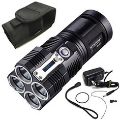 Nitecore Tiny Monster Series Updated 4000 Lumens TM26 Quad Ray XML2 LED Flashlight Searchlight Torch *** You can get additional details at the image link.