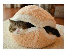 Discount Kitty Hamburger Litter Disassemblability Windproof Pet Nest Shell Cat Bed Hiding Burger Bun Pet Cat Bed From China | Dhgate.Com