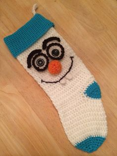 Hand crafted single and double crochet Olaf by familystitch321