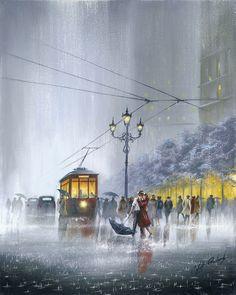 Crazy For You by Jeff Rowland Street Art Love, I Love Rain, Rain Art, Popular Artists, Fine Art Gallery, Community Art, Love Art, New Art, Illustration Art