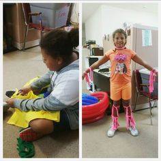 Our members had fun cutting up shirts and playing with the strips before making dog toys with them. #loveleekids #communityservice #funwithapurpose