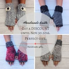 Handmade knits for women and kids. Perfect Holiday gift.