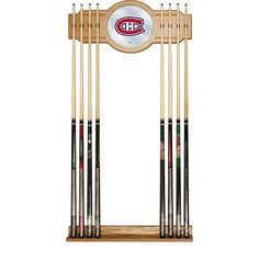 Montreal Canadians Cue Rack NHL Hockey Themed Man Cave Billiards Pool Furniture #TrademarkGameroom