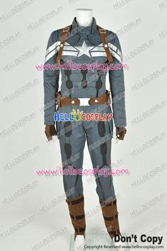 Captain America 2 The Winter Soldier Steve Rogers Uniform Costume Improved New Version