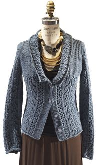 I'm not crazy about the collar but I love the rest of this sweater from Berroco called Luana.