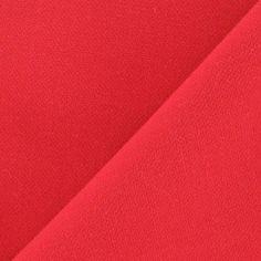 Tissu Viscose Lourde Rouge x 10cm