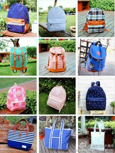 Love the bag bottom left.  #bags