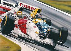 Sketch Senna Prost