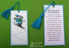Skiing Mouse and bookmark Disclaimer - digi stamps by Hambo Stamps - Designed by Lyn Tomlin