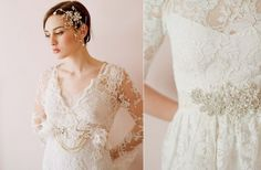 Lust-Worthy Lace Wedding Dresses | OneWed