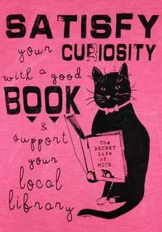 Womens Tshirt Screen Printed Library Cat by sleevescape on Etsy, $16.00