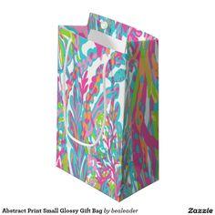 Abstract Print Small Glossy Gift Bag Small Gift Bag