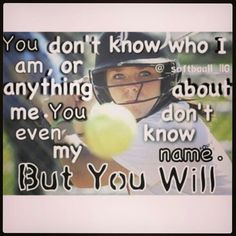 I love softball and this is very true