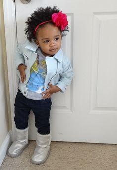 Baby Girl Swag :). Natural hair kids.