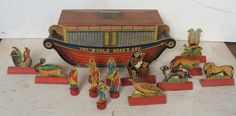 """19th C Litho on Paper on Wood """"The 'World' Noah's Ark"""" 16 Pieces   eBay"""