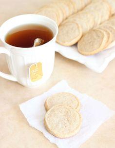 Pumpkin Spice Chai Shortbread Cookies