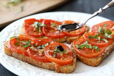 Tasty Kitchen Blog: Open-Faced Roasted Tomato & Goat Cheese Sandwiches. Guest post by Dara Michalski of Cookin' Canuck, recipe submitted by TK member Courtney of Bake. Eat. Repeat.