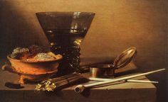 Pieter Claesz (1597-1661) Still Life with Wine and Smoking Implements Oil on panel 1638 Private collection