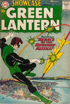 Showcase # 22 The First Appeance of the Silver Age Green Lantern Hal Jordan. - Cover Art by Gil Kane Valuable Comic Books, Rare Comic Books, Vintage Comic Books, Vintage Comics, Comic Book Covers, Comic Book Heroes, Comic Books Art, Comic Art, Book Art