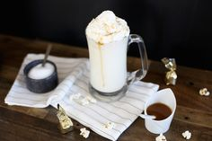 Salted Caramel White Hot Cocoa for a Movie Night In