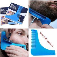 Esta plantilla para marcar la barba es un utensilio diseñado para lograr un corte simétrico de una forma fácil y rápida. Con este marcador podrás crear una gran variedad de estilos de barba y dar forma a la línea de tu mejilla, cuello, bigote, etc. cómodamente en casa .  DIMENSIONES APROX.: 11cm x 9 cm  4,50 EUROS  www.meloregalo.es  #meloregalo #barba #afeitarse #cuello  #bigote #mejilla #original #regalo #corte #peine #plantilla #estilos