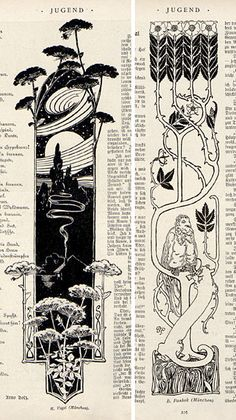 "Julius Diez Jugend magazine, the German fin de siècle periodical of ""art and . - Julius Diez Jugend magazine, the German fin de siècle periodical of ""art and life"", this post - Kunst Inspo, Art Inspo, Art And Illustration, Magazine Illustration, Book Illustrations, Architecture Art Nouveau, Design Art Nouveau, Et Tattoo, Lace Tattoo"