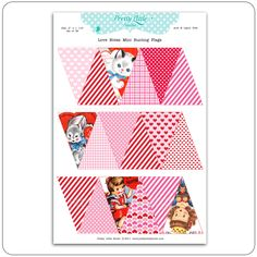 Printable Bunting flags for Valentines Day.