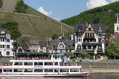 If you travel along the Rhine in Germany, you will see many tourist boats, especially in the Middle Rhine Region where quaint little villages, like Assmannshausen line the banks around every bend.