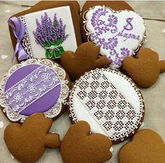 Lavender Lace Cookies