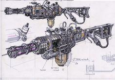 gun wallpapers : The Fallout Plasma Rifle Gun