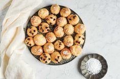 Chouquettes (French Cream Puffs). Recipe with step-by-step photos. #chouquettes #creampuffs #chouxpastry Pastry Recipes, Baking Recipes, Cake Recipes, Dessert Recipes, Eclair Recipe, Cream Puff Recipe, Choux Pastry, Chocolate Recipes, Chocolate Chips