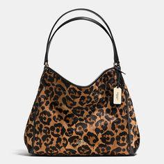 Edie Shoulder Bag in Wild Beast Print Haircalf