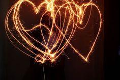 sparkler hearts