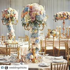 So excited to have one of our clients featured in @weddingchicks  #Repost @weddingchicks ・・・ :heart_eyes: How beautiful are the wedding centerpieces!? :tulip: :rose: :sunflower: #flowersonflowers :movie_camera:  #weddingfilm by @marcocaputofilms :camera: