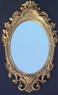 Vtg Ornate Gold Toned Wall Mirror Hollywood Regency French Provincial Large  #Unbranded #HollywoodRegency