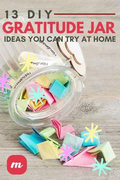 Have you ever heard of a gratitude jar? It's a great concept for kids or families to boost morale and really show each other what they are grateful for. It's a simple craft that anyone can make but there are tons of different types to try, so check out 13 of the best ideas we rounded up that will show you how to make gratitude jars right at home! #gratefulness #DIY #craftideas Easy Diy Crafts, Diy Home Crafts, Diy Craft Projects, Gratitude Jar, Jar Image, Quart Jar, Finding Peace, Cool Fonts, Give Thanks