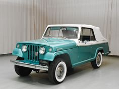 Visit the post for more. Vintage Jeep, Vintage Cars, Antique Cars, Classic Trucks, Classic Cars, Jeepster Commando, Car Guide, On The Road Again, Jeep Truck
