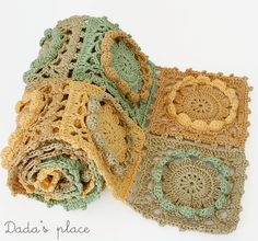 Dada's place: Crochet scarf for my sister