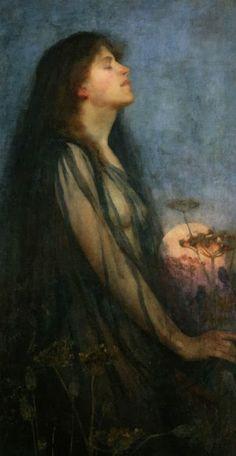 Pre Raphaelite Art: Evening - Thomas Cooper Gotch)