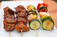 These grass-fed beef kebabs are juicy, tender and packed with flavor.