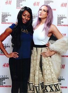 Sukki Singapora with Queek'd CEO Elisa McLean at the VOGUE #FNO  Sukki wears: vintage clockwork skirt from US, vintage stole from London, black python wedges by Louboutin, silver amethyst ring by Decorus Eventus, Hair colourist: Siobhan Taylor, Makeup by Jane Bellis.