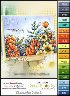 Passionate Paper Creations: Countryside Bouquet - Power Poppy Stamps