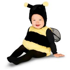 67 Precious Halloween Costume Ideas That Will Keep Your Baby Warm Lil' Bumble Bee Infant Costume Lil' Bumble Bee Infant Costume ($30)