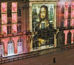 Musique classique ou électro, sur rêverie en lumière.  Photo Mathieu CUGNOT (Nancy, rendez-vous place Stan avec Mona Lisa)